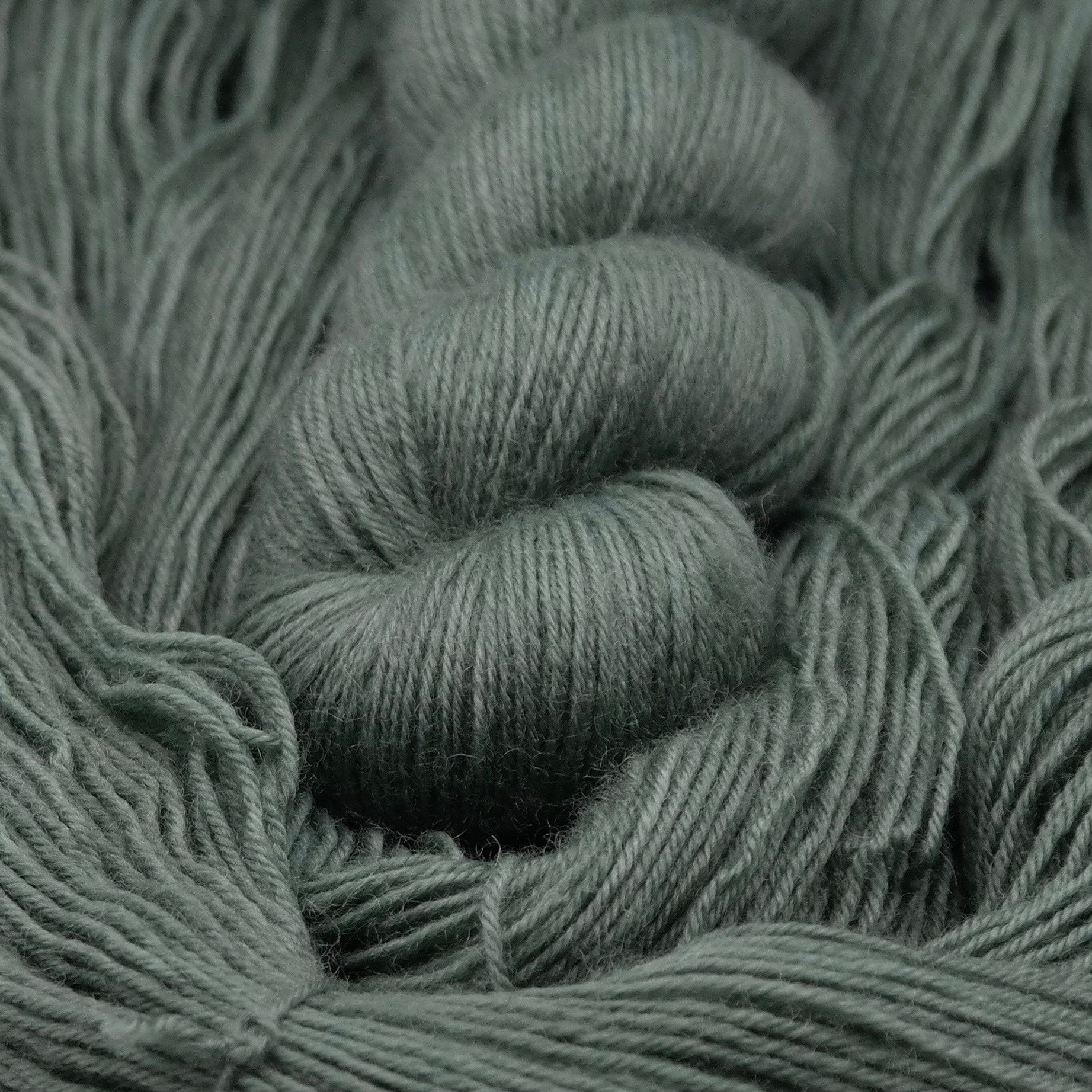 Vert de gris | BFL Fingering - Echeveau de laine 100% Bluefaced Leicester teint à la main dans le Nord de la France par Teinturlurée