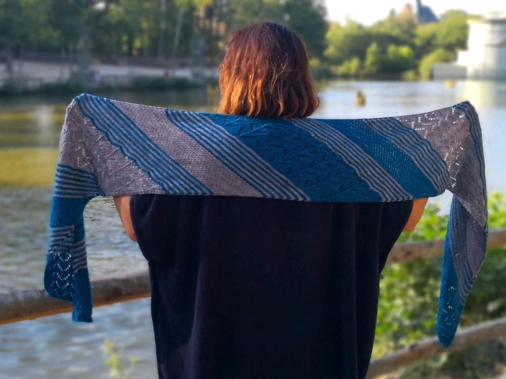Kit - Wrap « Mousson » de Nanoulili Designs | Commandez la laine nécessaire à la réalistion du top Foehn de Nanoulili Designs | Teinturlurée