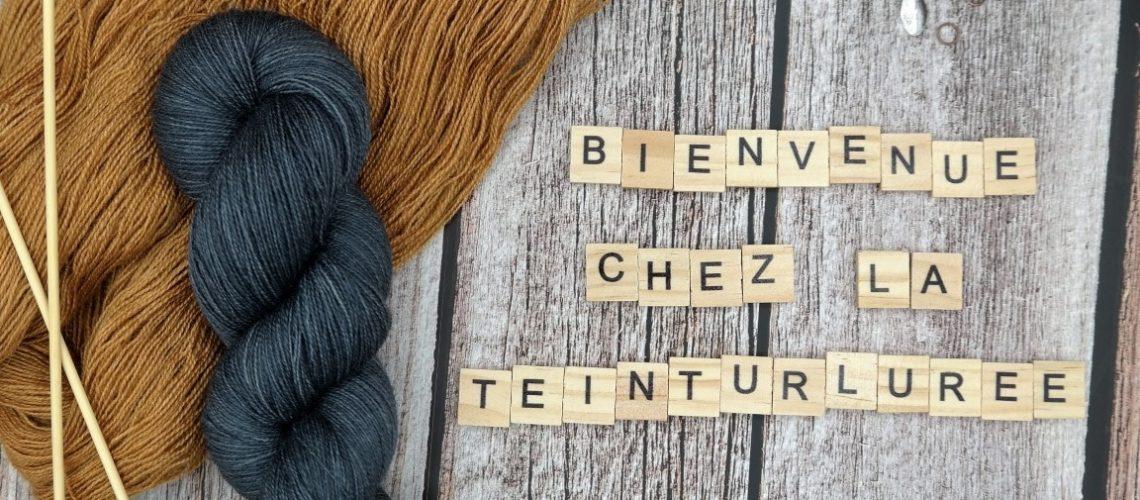 Bienvenue chez la Teinturlurée ; petite entreprise de laine teinte à la main avec beaucoup d'amour, de passion et de caféine dans le Nord de la France